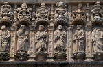 Apostles, frieze on portal from Reyes Catolicos Hotel (1501-1511), Santiago de Compostela (Unesco World Heritage List, 1985), Galicia, Spain