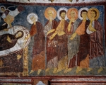 Dormition of Virgin among Apostles, Detail, Byzantine fresco (13th century), Gulsehir Karsi Kilise (Church of St John), Goreme (Unesco World Heritage List, 1985), Cappadocia, Turkey
