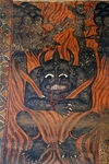 (Unesco World Heritage List, 1979), Beelzebub and damned in hell, paintings in Debre Birhan Selassie coptic Church (17th-18th century), Gondar, Ethiopia