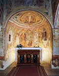 Hrastovlje fortified church, Trinity Church, Apostles (1490), detail from frescoes by Janez Iz Kastva, Slovenia
