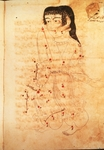 The Constellation of Virgo, illustration from 'The Book of Fixed Stars' by Azophi (Abd al-Rahman al-Sufi) (vellum)