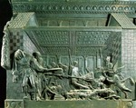 The Martyrdom of St Lawrence, after 1460 (bronze)