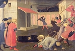 The Martyrdom of St. Mark, predella from the Linaiuoli Triptych, 1433 (tempera on panel)
