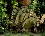 Mouth of a fantastical cave in the form of a monster's head, from the Parco dei Mostri (Monster Park) gardens laid out between 1550-63 by the Duke of Orsini, to designs by Giacomo Barozzi da Vignola (stone) (photo)