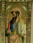 St. Paul, detail from the Sant'Emidio polyptych, 1473 (tempera on panel) (detail of 76636 and 76646)