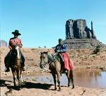 Navajo indians in Navajo Reservation, Monument Valley, Utah (photo)