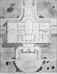 Plan of the principal story of the White House from 1807 (litho)
