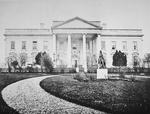 The White House at the time of the inauguration of Abraham Lincoln (1809-65) 4th March 1861 (b/w photo)