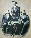 Wild Bill Hickok (1837-76) Texas Jack Omohundro (1846-79) and Buffalo Bill Cody (1846-1917) 1874 (photo)