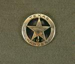 Texas Rangers Badge (metal)