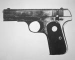 John Dillinger's pistol, 1934 (b/w photo)