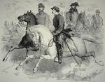Federal/Union Cavalry Leaders - Pleasonton (1824-97), Bayard (1835-1862) and Colonel Percy Wyndham making reconnaissance near Fredericksburg, Virginia, contemporary illustration (litho)