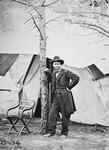 General Ulysses Simpson Grant in the field at Cold Harbor, 1864 (b/w photo)