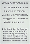 The 'Sons of Liberty', a secret movement founded in 1765 in opposition to British taxes (litho)