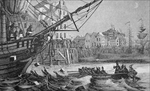 The Boston Tea Party, 16 December 1773 (litho)