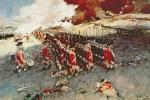Battle of Bunker Hill, 17 June 1775 (colour litho)
