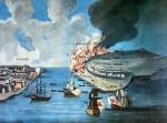 View of Boston and the Battle of Bunker Hill, 17 June 1775 (colour litho)