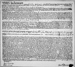 Indentured Servants and Tenants - extract from an Indenture dated 1742 of a tenant on the Livingston manor, New York, 1742 (ink on paper)