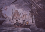Battle of Lake Erie (colour litho)
