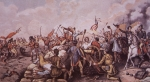 The Battle of New Orleans (colour litho)