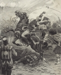 The Death of Edward Pakenham at the Battle of New Orleans (litho)