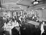 The Dining Salon on A Deck, RMS Lusitania, 1907 (b/w photo)