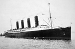 RMS Lusitania, 1907-15 (b/w photo)