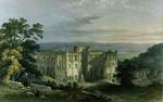 Rievaulx Abbey in the Rye Valley, from 'The Monastic Ruins of Yorkshire', engraved by George Hawkins, 1843 (colour litho)