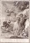Perseus Delivers Andromeda from the Sea Monster, 1731 (engraving)