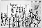 An Execution of Witches in England (engraving)