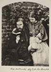 George MacDonald and his daughter Lily, 14th October 1863 (sepia photo)