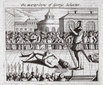 The martyrdom of George Scherter, illustration from 'Acts and Monuments' by John Foxe, ninth edition, pub. 1684 (litho)