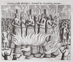 Seven godly martyrs burned in Coventry, illustration from 'Acts and Monuments' by John Foxe, ninth edition, pub. 1684 (litho)