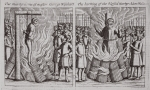 The martyrdom of master George Wisehart, and The burning of the blessed master Adam Wallace, illustration from 'Acts and Monuments' by John Foxe, ninth edition, pub. 1684 (litho)