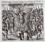 The martyrdom of Doctor Taylor, burned at Hadley for the Testimony of the Gospel, 9th February 1555, illustration from 'Acts and Monuments' by John Foxe, ninth edition, pub. 1684 (litho)