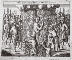 The burning of William Hunter, martyr, illustration from 'Acts and Monuments' by John Foxe, ninth edition, pub. 1684 (litho)