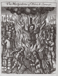 The martyrdom of Dirick Carver, illustration from 'Acts and Monuments' by John Foxe, ninth edition, pub. 1684 (litho)
