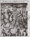 The martyrdom of Master John Denley, illustration from 'Acts and Monuments' by John Foxe, ninth edition, pub. 1684 (litho)
