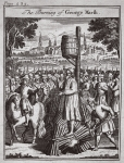 The burning of George Marsh, illustration from 'Foxes Martyrs' c.1703 (litho)