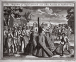 The martyrdom of Hugh Laverock and John Apprice at Stratford-Bow, illustration from 'Foxes Martyrs' c.1703 (litho)