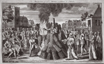 The martyrdom of Dr. Thomas Cranmer at Oxford, illustration from 'Foxes Martyrs' c.1703 (litho)