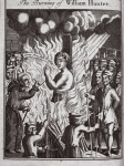 The burning of William Hunter, illustration from 'Foxes Martyrs' c.1703 (litho)