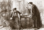 Interview between Erasmus and Calvin, illustration from 'The History of Protestantism' by James Aitken Wylie (1808-1890), pub. 1878 (engraving)