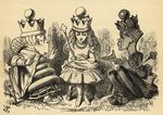 Manners and Lessons, illustration from 'Through the Looking Glass' by Lewis Carroll (1832-98) first published 1871 (litho)
