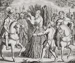 The Martyrdom of Dr Taylor, from 'The Burning of the Martyrs', published 1741 (litho)