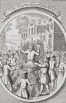 The Martyrdom of Dirick Carver at Lewes, from 'The Burning of the Martyrs', published 1741 (litho)