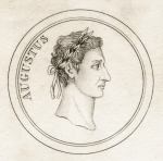 Emperor Augustus, from 'Crabb's Historical Dictionary', published 1825 (litho)