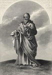 St. Paul, from 'The National Illustrated Family Bible', published c.1870 (litho)