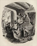 Grandpapa's Story, or The Witches' Frolic, from 'The Ingoldsby Legends' by Thomas Ingoldsby, published by Richard Bentley & Son, 1887 (litho)
