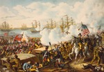 The Battle of New Orleans, January 8, 1815. Final battle of the War of 1812, resulting in victory for the American forces against the British. After a 19th century work.